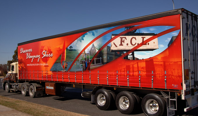 FCL Truck Skirt design for Blayney Shire Council