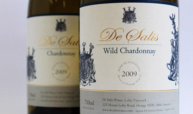 De Salis Wines - label design