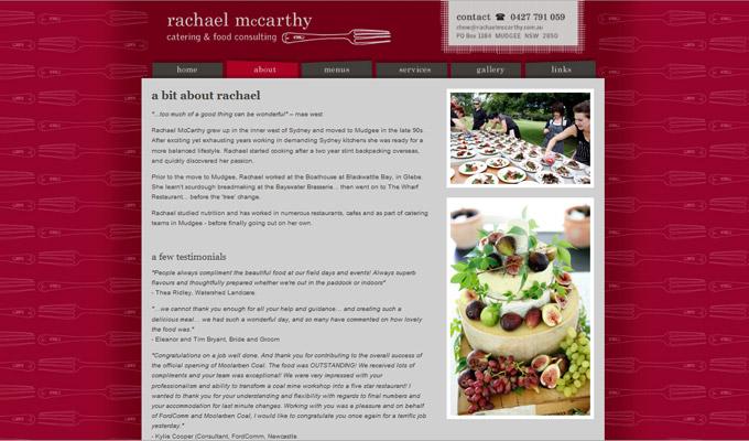 Rachael McCarthy website screenshot