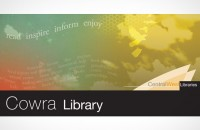 Cowra Library location sign rebranded