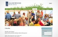 Glenwood Merinos website calendar page