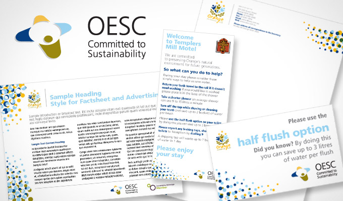 OESC Sustainability - Print design Promotional Collateral