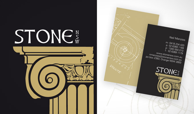 Stone NSW, Logo and print collateral design