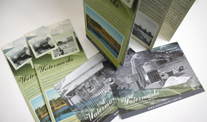 Watermarks Driving Tour DL Brochure and A6 Postcards