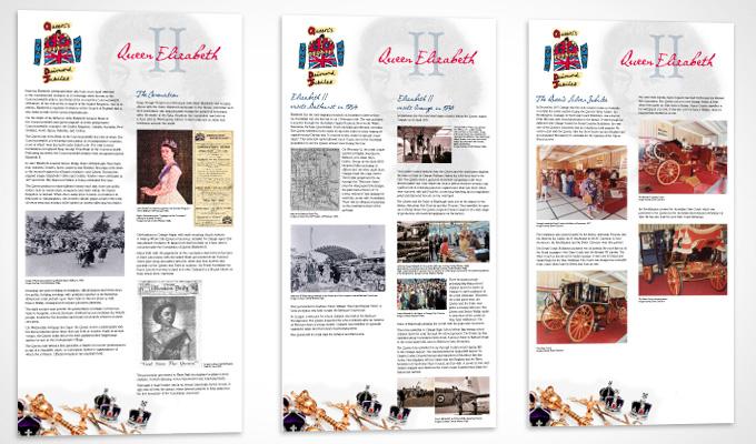 Queen's Diamond Jubilee exhibition panels