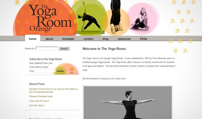Website design for orangeyogaroom.com.au