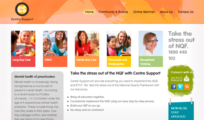 Centre Support homepage