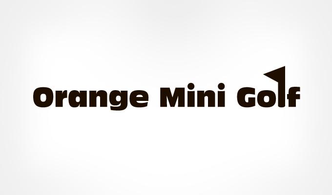 Orange-Mini-Golf-logo-text-design