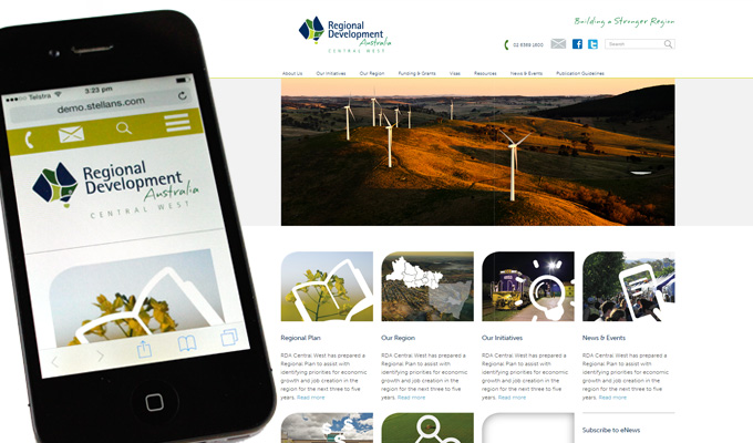 RDA Central West Home page