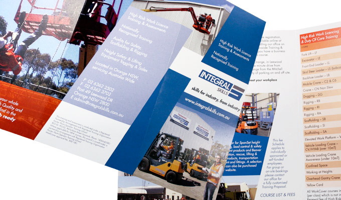 Integral Skills 6 panel corporate brochure