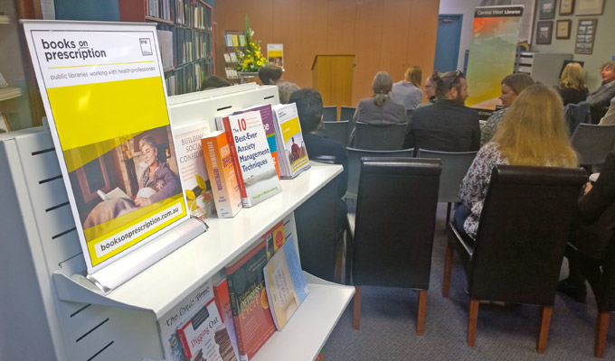 Books on Prescription material at the official launch