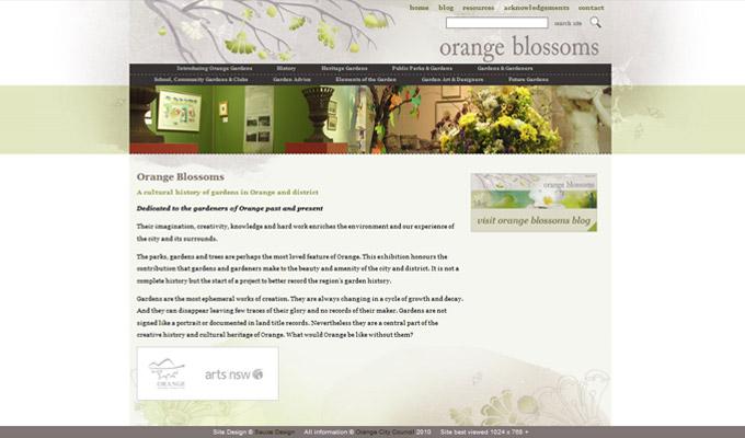Orange Blossoms website screenshot