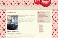 BiteRiot Blog template design