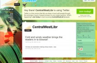 Template design for Central West Libraries Twitter page