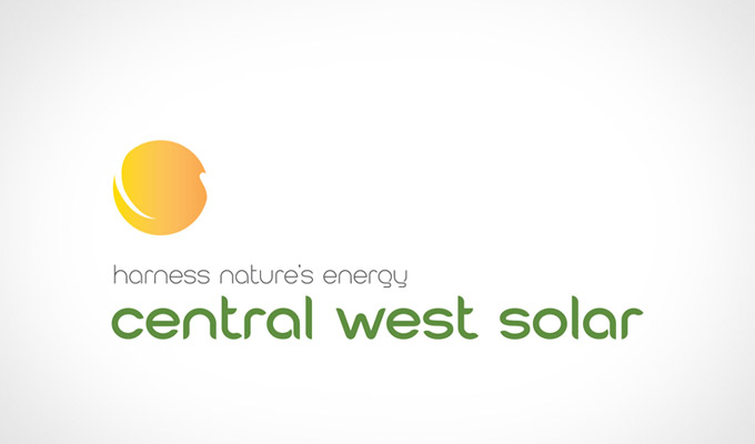 Central West Solar Logo redesign