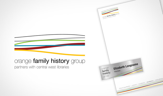 Orange Family History - Logo Design, Letterhead and Name Badges
