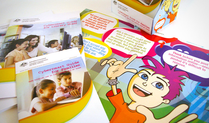 Australian Communications and Media Authority (ACMA) Print collateral for 'Cybersmart Guide for Families' and  'Librarians'