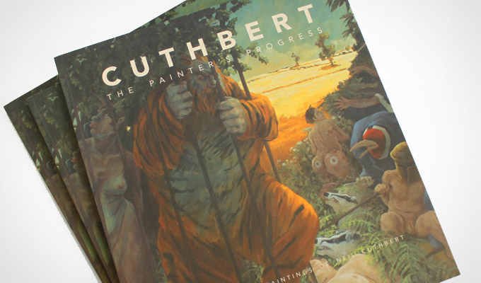 Book cover design for Cuthbert: The Painters Progress