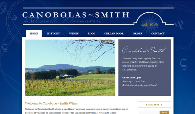 Canobolas~Smith Wines - website design