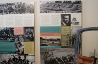 Detail of Fairbride Farm exhibition panels at Molong Museum