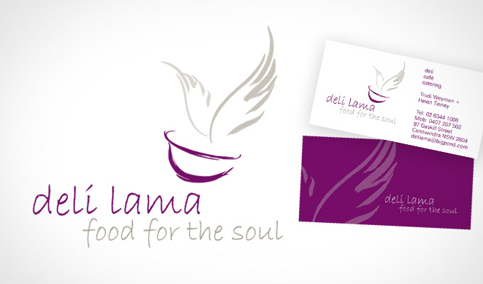 deli lama, Logo and business card design