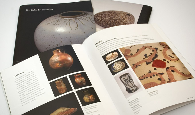 Earthly Encounters Design of an Art Catalogue