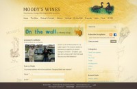View web design for Moody's Wines blog