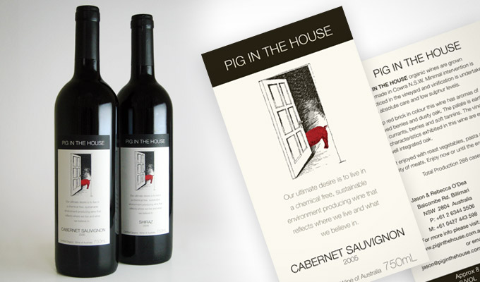 Pig in the House, Wine Label design