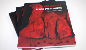 Cover design for the Book Sun Shining - Blood Everywhere: The art of Victor Gordon