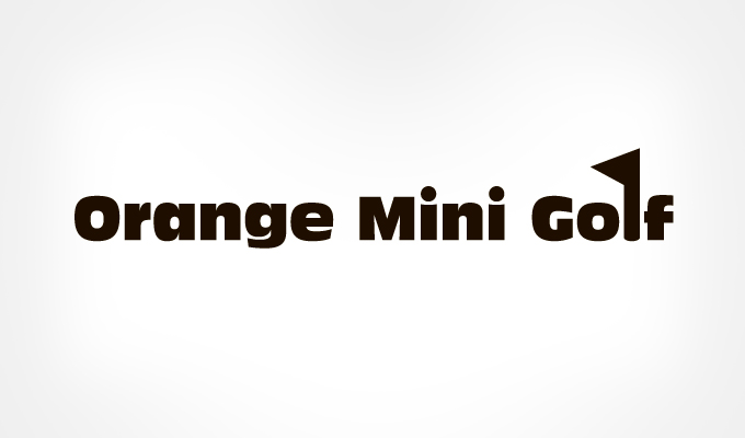 Orange-Mini-Golf-logo-text-design