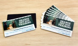 Orange-Pet-Dog-Training-business-cards-&-magnets
