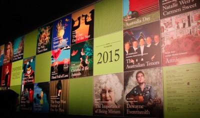 Poster wall at Orange Civic Theatre