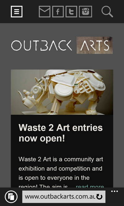 outback arts home page mobile