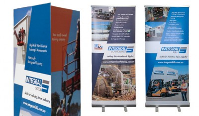 Integral Skills corporate brochure and pull up banners