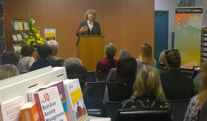 Dr Scott Fitzpatrick speaks at Books on Prescription launch