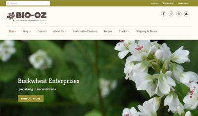 Bio-oz website relaunch home page