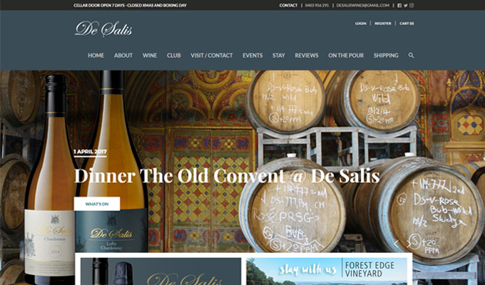 De Salis eCommerce store by Sauce Design