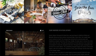 Site Graphics for Heifer Station by Sauce Design