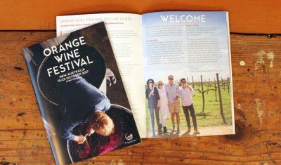 Orange Wine Festival 2017 program design