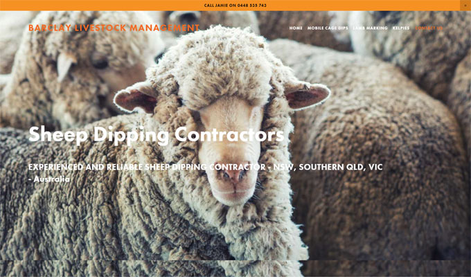 Barclay Livestock Management Website by Sauce Design