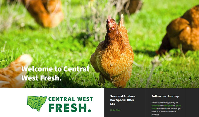 Central West Fresh website
