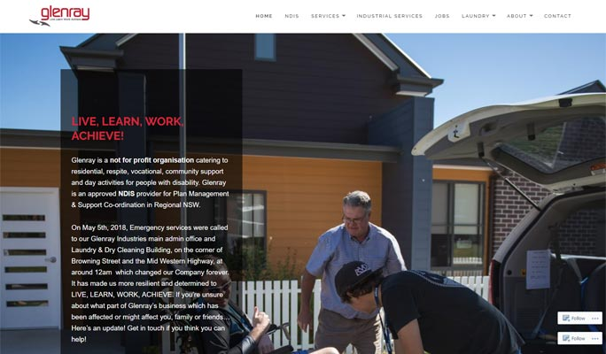 Glenray Website design be Sauce Design