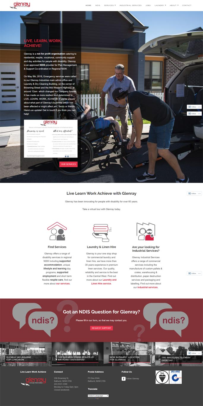 Glenray Website by Sauce Design