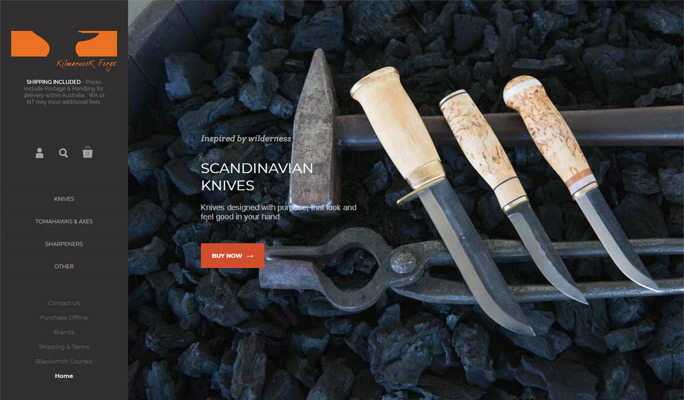 Kilmarnock Forge web redesign by Sauce Design