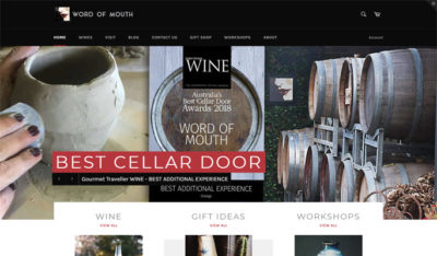 Word of Mouth Wines Ecommerce Site By Sauce Design