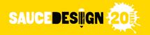 sauce design logo 20 years