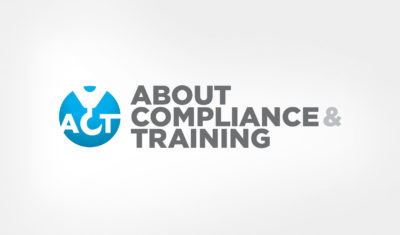 Logo design About Compliance & Training