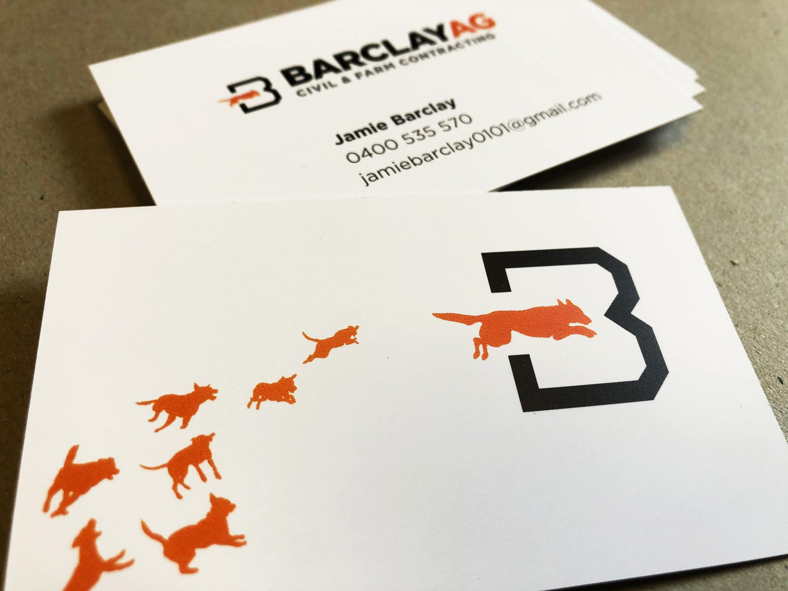 Barclay Ag Business card design