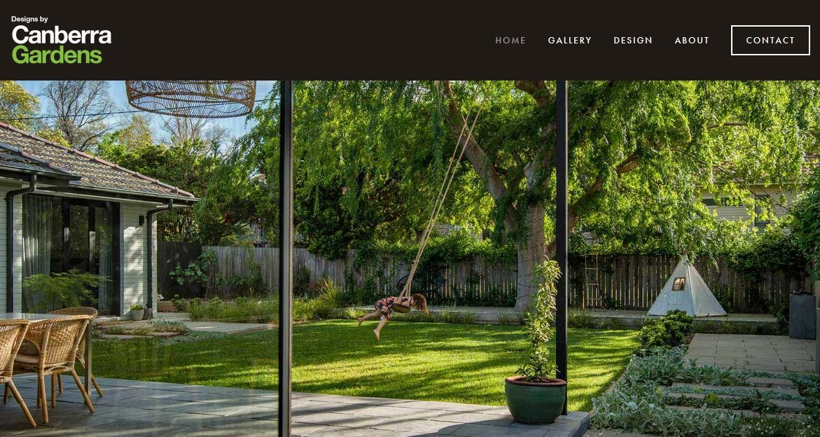 Website build for Canberra Gardens