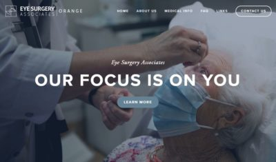 Eye Surgery Associates - HOME PAGE WEBSITE LAYOUT